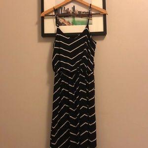 Lush Chevron maxi dress